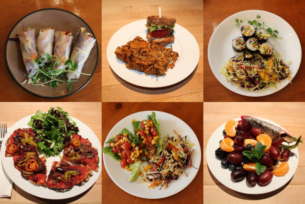 Sample dishes from our last Plant Based Immersion
