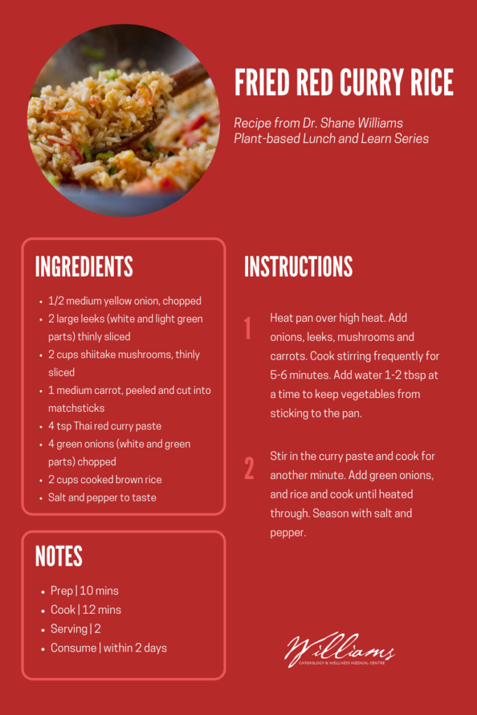 Thai red curry fried rice